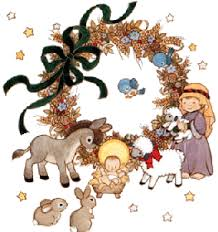 christian christmas background clipart. Christmas Wreath In Christian Background Clipart