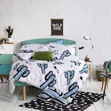 cactus bedding set white green comforter bedding sets single queen king size 100 cotton satin bed