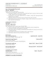 Child Care Resume Sample Child Care Resume Examples Child Care