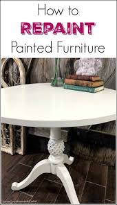 how to paint over painted wood furniture