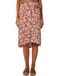 Billabong Firefly Floral Skirt Cayenne Surfstitch