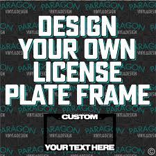 Design your own picture frame Photo Frame Image Fpv Frame Vinyl Wrapsskins Test Custom License Plate Frame Paragon Vinyl Design