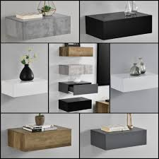 bedside table accessories. Interesting Accessories Encasa WALLMOUNTED BEDSIDE TABLE 1 DRAWER  46X30X15CM With Bedside Table Accessories B