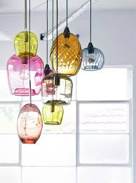 view in gallery handblown glass pendant lights by mark douglass