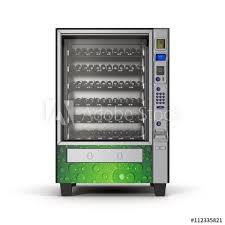 3d Vending Machine Fascinating Vending Machine On White 48D Illustration Buy This Stock