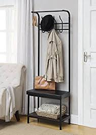 Coat Rack Organizer Amazon Vintage Dark Brown Industrial Look Entryway Shoe Bench 31