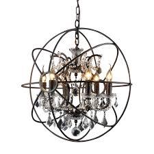 y decor hannah 6 light rustic black chandelier
