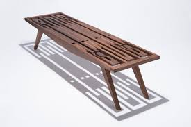 a handcrafted wood bench with no hardware  design milk