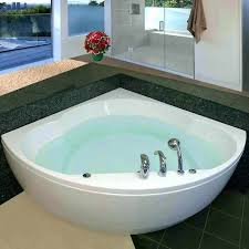 corner soaking tubs tub with font skirt curving bathing well for home improvement wilson corner tub
