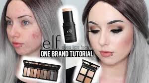 elf one brand tutorial acne coverage smokey eye affordable makeup you