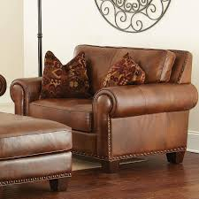 terrific leather chair and a half with ottoman in modern furniture with leather chair and a