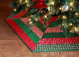Christmas Tree Skirt Pattern Cool A Bright Corner Quilted Christmas Tree Skirts