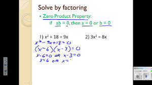 4 5 solving quadratic equations by graphing and factoring lesson you