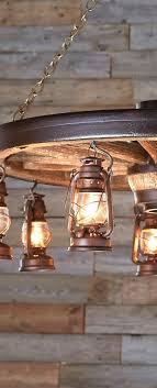 diy garage lighting. rustic wagon wheel u0026 lantern lighting for the garage bar diy h