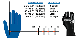 how to measure hand size for gloves glove sizing chart water ski gloves