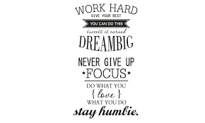Office Motivational Quotes Wall Sticker Never Give Up Work Hard Enchanting Motivational Quotes For Work