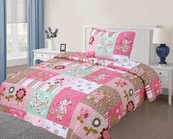 spring fl bedding sets ease with style girls green world piece kids bedspread quilts set sheets