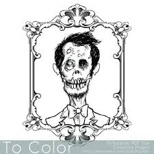 Small Picture 120 best Horror Coloring Pages images on Pinterest Zombie girl