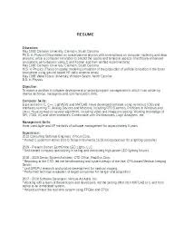 Product Manager Resume Objective Examples Resumes Experimental 6