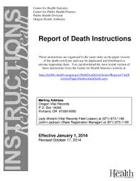 Requesting A Death Certificate Oregon Death Certificate Template Fill Online Printable