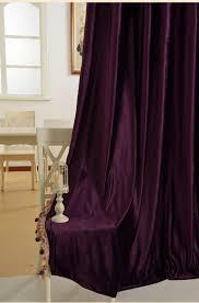 Purple Curtains For Living Room Pure Velvet Purple Gold Brown Gray European Living Room