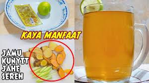 200 gram gula merah (sisir halus). Cara Bikin Jamu Kunyit Jahe Sereh Untuk Kesehatan Tubuh Minuman Herbal By Dapur Diizah Youtube