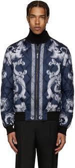 Versace - Blue Quilted Medusa Bomber Jacket | PIllage Village ... & Designer jackets & coats for Men Adamdwight.com