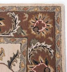 blue brown area rugs traditional antique hand tufted wool rug carpet fl ivory green red gold dining room plush for living color large dark s home