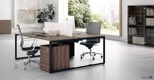office desk walnut. Frame Desk Walnut Top With Black Office C