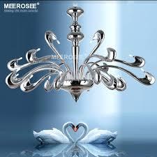 drop lighting fixtures modern beautiful swam chandelier hanging light fixture lamp light chrome color drop re