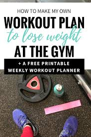 Design Your Own Workout Plan How To Make Your Own Workout Plan Printable Megan