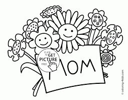Small Picture Flowers for Mothers Day Holiday coloring page for kids coloring