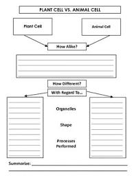 Plant Cells Vs Animal Cells Venn Diagram Plant Vs Animal Cell Venn Diagrams By Inabinets Innovations Tpt