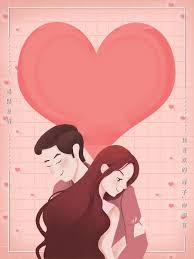 cartoon love couple background love