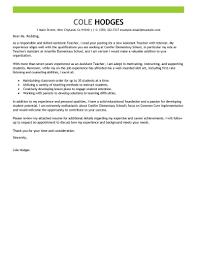 Primary Teacher Cover Letter Job Letter For Primary Teacher Best Assistant Teacher Cover Letter