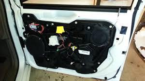 2016 chrysler town country minivan door panel removed metal door frame upgrade oem speaker