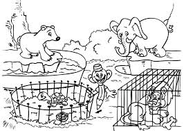 zoo animals coloring pages for kindergarten pages impressive design coloring page zoo zoo coloring page zoo