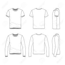 Short Templates Vector Clothing Templates Blank Shirts With Short And Long Sleeves