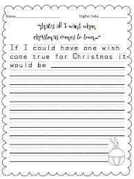this be is a great writing activity to engage your students that s all i want when christmas comes to town a week