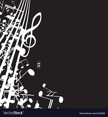 black background design music. Wonderful Black Music Note Background Design Vector Image On Black Background Design O