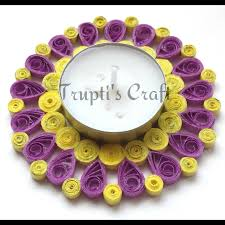 paper quilling candle holder or wall hanging or car hanging