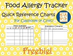 Food Allergy Tracker And Emergency Contact Charts Freebie