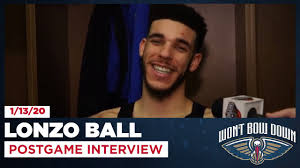 Lonzo Ball Postgame Interview After OT ...