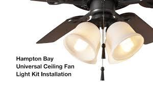 how to install the hampton bay 4 light universal ceiling fan light kit
