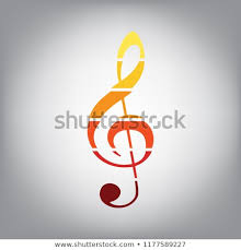 Music Violin Clef Sign Gclef Treble Stock Vector Royalty Free