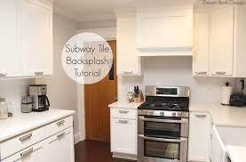 Diy Tile Backsplash Kitchen Easy Diy Subway Tile Backsplash Tutorial Dream Book Design