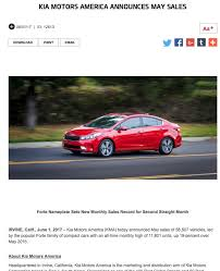new car release monthIn May 2017 Kia Outsold Hyundai for the First Time Ever