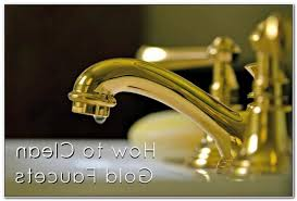 cleaning gold plated bathroom fixtures