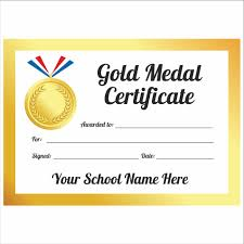 Gold Day Certificates Stickers Sports Medal School