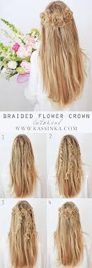 Flower Hair Style braided flower crown kassinka 6050 by wearticles.com